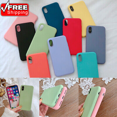 Colorful Candy (Candy Color Shockproof Ultrathin Non-slip Silicone Phone Case For iPhone)