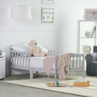 Orbelle Contemporary Solid Wood Toddler Bed -, Grey