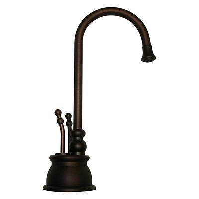 Whitehaus 2-Lever Handle Instant Hot/Cold Water Dispenser in Mahogany Bronze