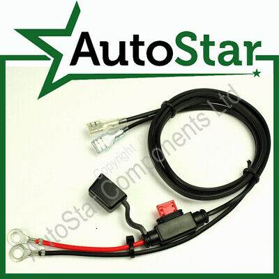 12V Fused Accessory Power Supply Outlet Cable Lead Wiring Loom Socket 12 V Volt