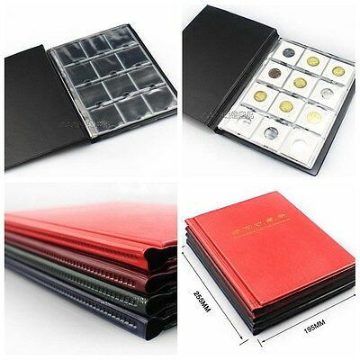 Square Paper Clip Cardboard Coin Holder Album Collection Big Book Load 200