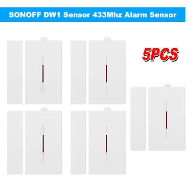 5 PCS SONOFF DW1 Capteur 433 Mhz Porte Fenêtre Alarme Capteur Sans Fil T2C2 super discount