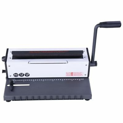 New All Steel Metal Wire Coil 34Holes Punching Binding Machine Binder Puncher ()
