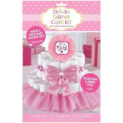 It's a Girl Baby Shower Diaper Cake Kit - Great for Baby Shower Decorations](Baby Shower Diaper Cake)