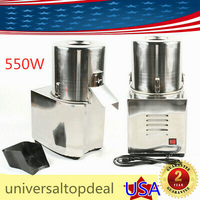 Electric Meat Food Slicer Stainless Steel Vegetable Chopper Cutter Machine 550w