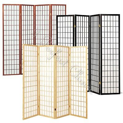Local PICK UP ONLY 4 Panels Wood Shoji Room Divider Folding Screen Oriental (Oriental Wood Screen)
