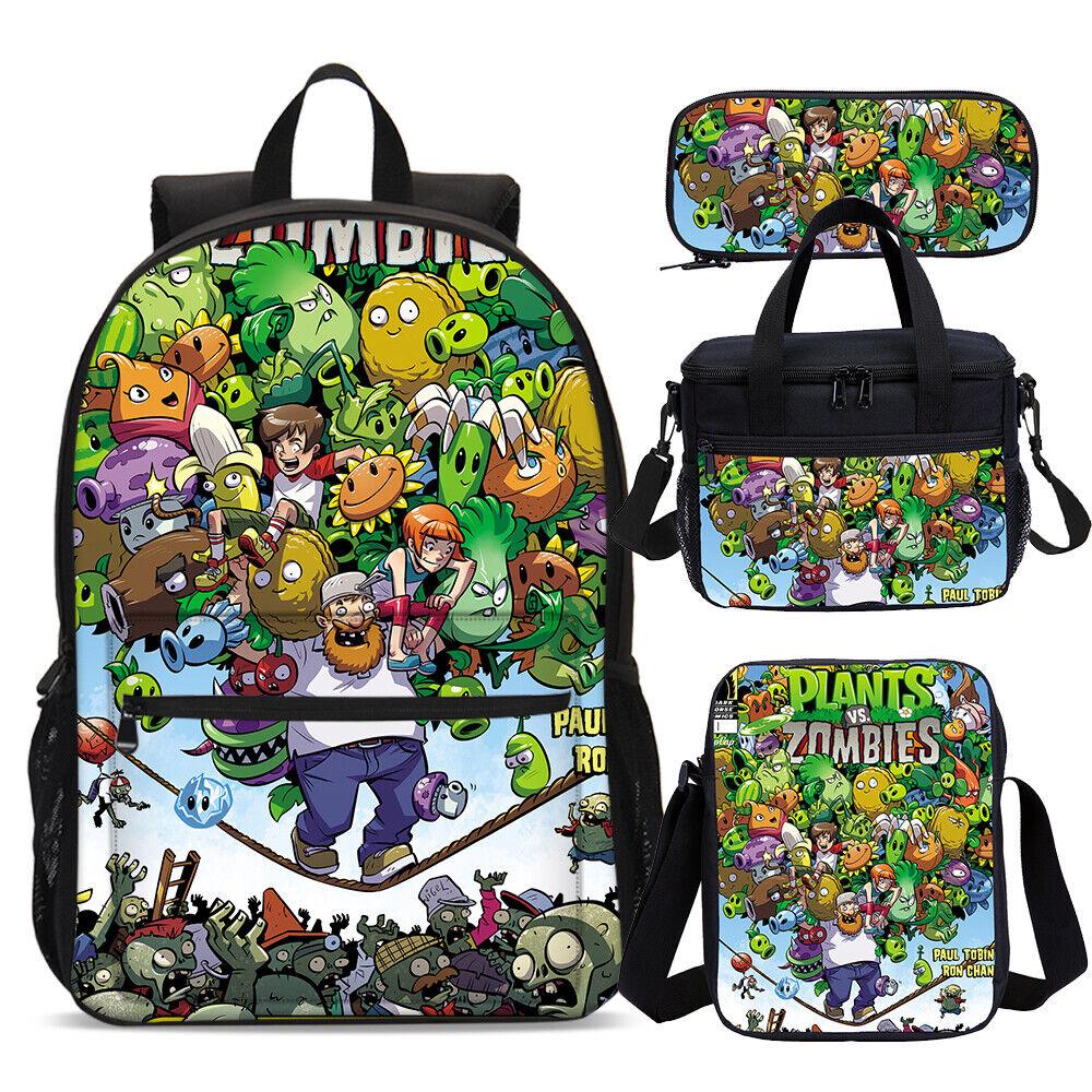 Plants Vs Zombies Backpack Multipurpose Computer Business Bookbag Durable Daypack