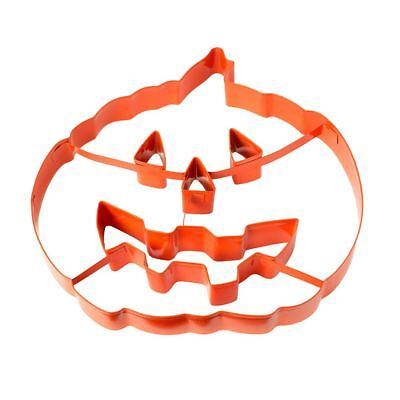Giant Pumpkin Cookie Cutter & Pie Topper - Large Halloween Pastry/Biscuit Cutter - Large Metal Halloween Cookie Cutters