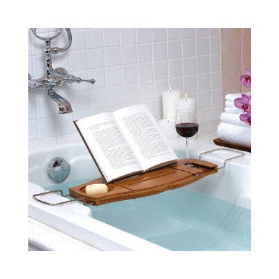 Umbra Aquala Bathtub Caddy Tray Bath Table Organizer Shower Bamboo Book Wine (Umbra Aquala Bathtub Caddy)