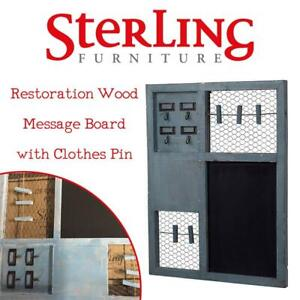 NEW Sterling 128-1014 Restoration Wood Message Board with Clothes Pin Grant Park , 20 by 26-Inch, Condition: New