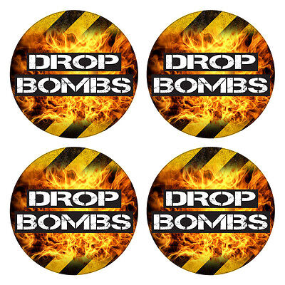 Baseball Softball Bat Knob Decal Set - Drop Bombs - Baseball Bat Sticker Set