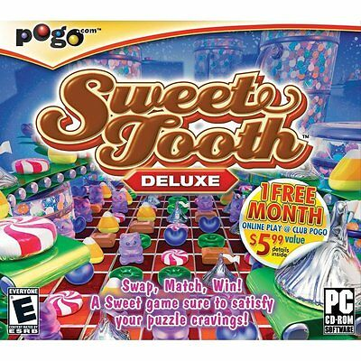 Sweet Tooth Deluxe PC Games Windows 10 8 7 XP Computer candy crush match NEW](Tooth Candy)