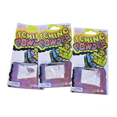3 Pcs Itch Itching Powder Packages   Prank Joke Trick Gag Funny Joke Trick Magic