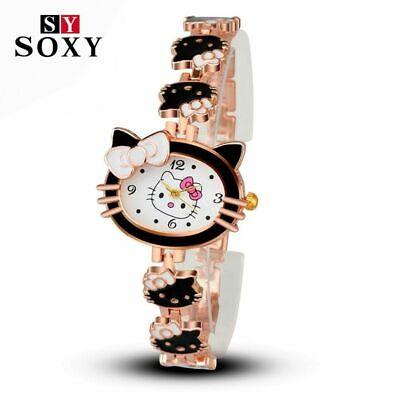 auen Kinder Quarz Armbanduhr Uhr für Mädchen Cartoon (Hallo Kitty Für Mädchen)