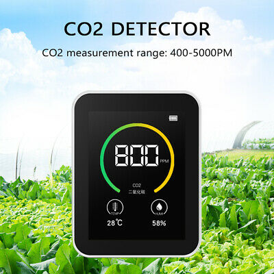 Co2 Detector Carbon Dioxide Sensor Monitor Gas Concentration Content Air Tester