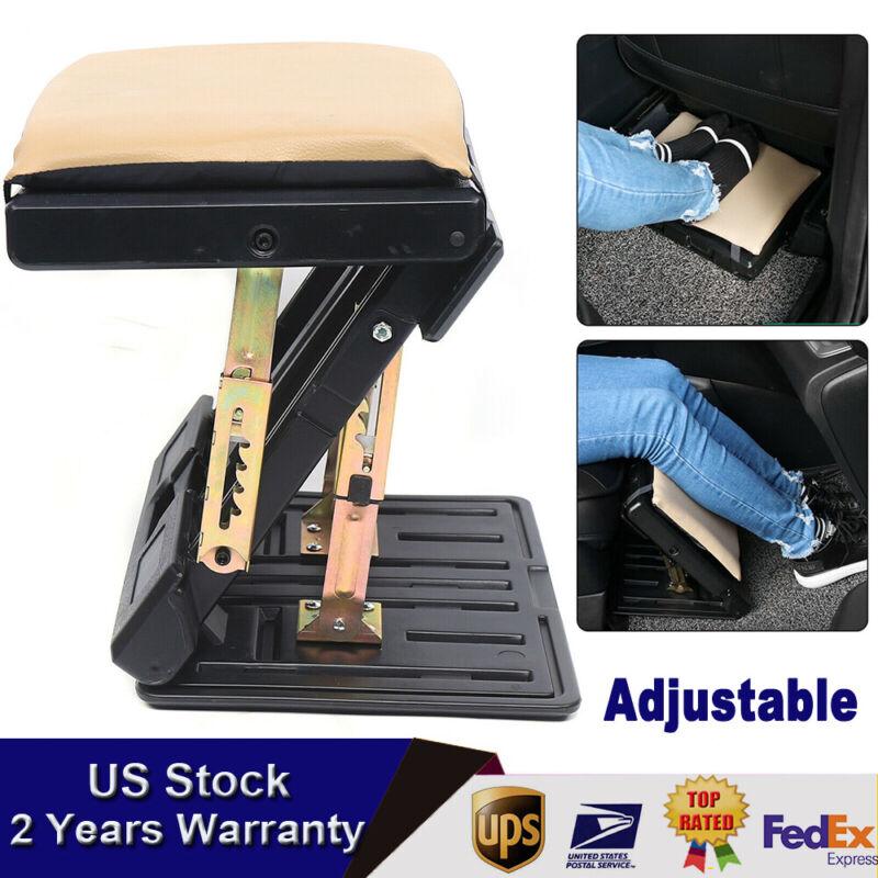 Car Ottoman Long-distance Travel Ergonomic Footrest Relieve fatigue PVC leather