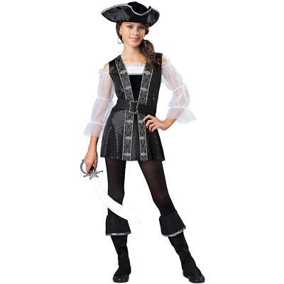 Girls Tween Dark Pirate Halloween Costume (Halloween Costumes Tween Girls)