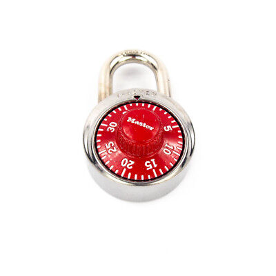 Master Lock Model No. 1525 1-78 Combination Padlock With Red Dial Locker