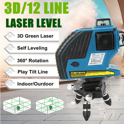 3d 120xgreen 12 Line Laser Level Self Leveling Vertical Horizontal Cross Measure
