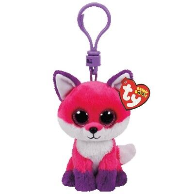 Ty Beanie Babies Boos 35021 Joey the Pink Fox Boo Key Clip