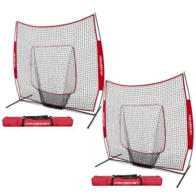 3b15d360a 2x Refurbished PowerNet 7x7 Baseball Softball Hitting Nets for Batting  Practice