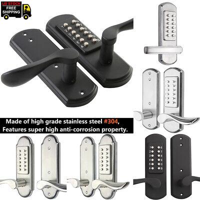 304 Stainless Steel Mechanical Door Lock Keyless Code Keypad Security Anti-Theft