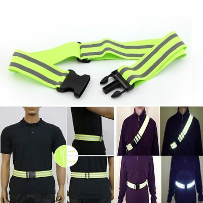Belt High Visibility Safety Biking Jogging Walking Reflective Stripe Gear