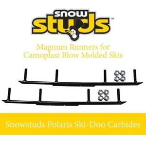 NEW RM3004  Magnum Runners for Camoplast Blow Molded Skis -Snowstuds Polaris Ski-Doo Carbides by SnowStuds Condtion: New
