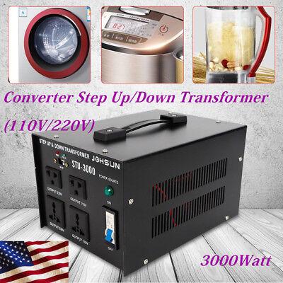 3000W Voltage Transformer Step Up&Down 110V to 220V/220V to 110V Converter Tool Voltage Converter Step