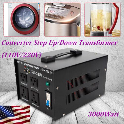 3000W Voltage Transformer Step Up&Down 110V to 220V,220V to1