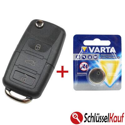 Llave Plegable 3 Teclas Carcasa las Del Coche Batería Apto Para VW...