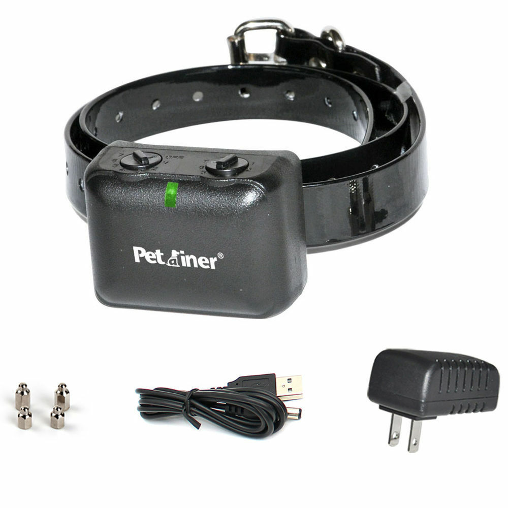 Купить Petrainer PET850 - Waterproof Rechargeable Anti No Barking Collar Electric Shock Dog Bark Collar