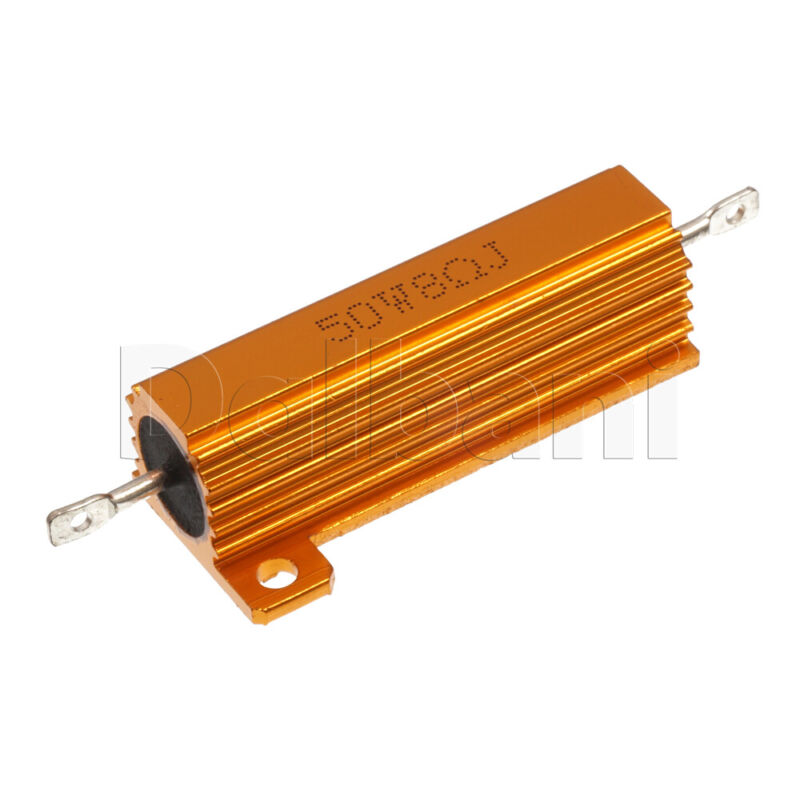 50W 8ohm Wirewound Power Resistor Aluminum Housing Chasis Mount