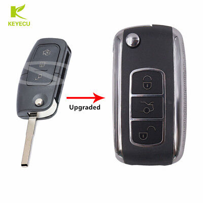 Upgraded Remote Flip Key Fob 433MHz W/ 4D63 for Ford Fiesta Focus Mondeo C-Max