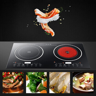 Portable Digital 2400W Electric Induction Cooktop Cooker Countertop Burner