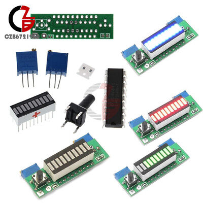 Lm3914 Redgeenblue Led Display 3.7v Battery Capacity Indicator Module