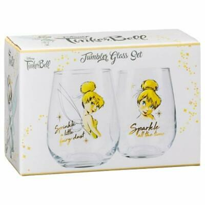 Gorgeous Disney Tumbler Glass Set Gift it to a Loved one 2pk - Tinkerbell