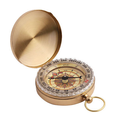 Vintage Cool Pocket Watch Style Glow In The Dark Outdoor Compass Survival Tool