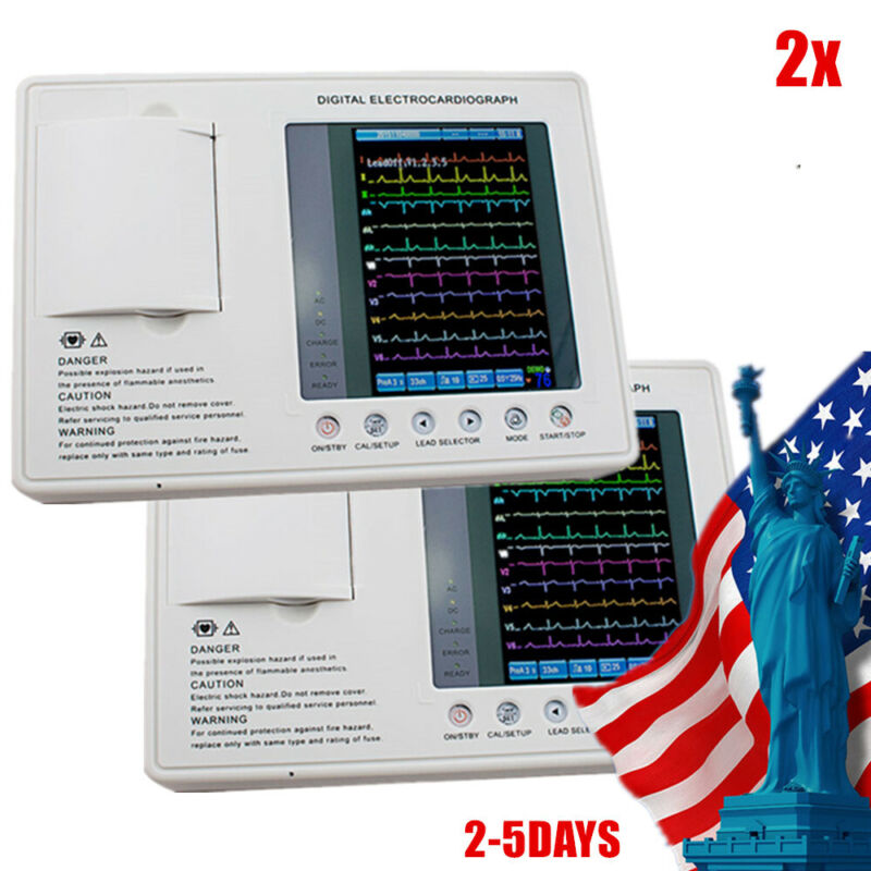Electrocardiograph Digital 3Channel 12Lead ECG&EKG MachineCardiac+Printing paper