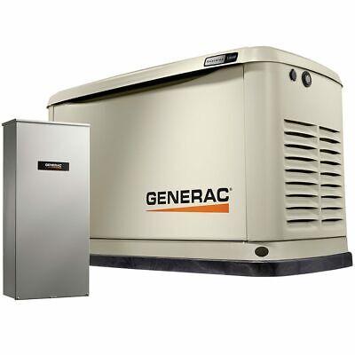 Generac Guardianreg 13kw Aluminum Standby Generator System 200a Service Di...