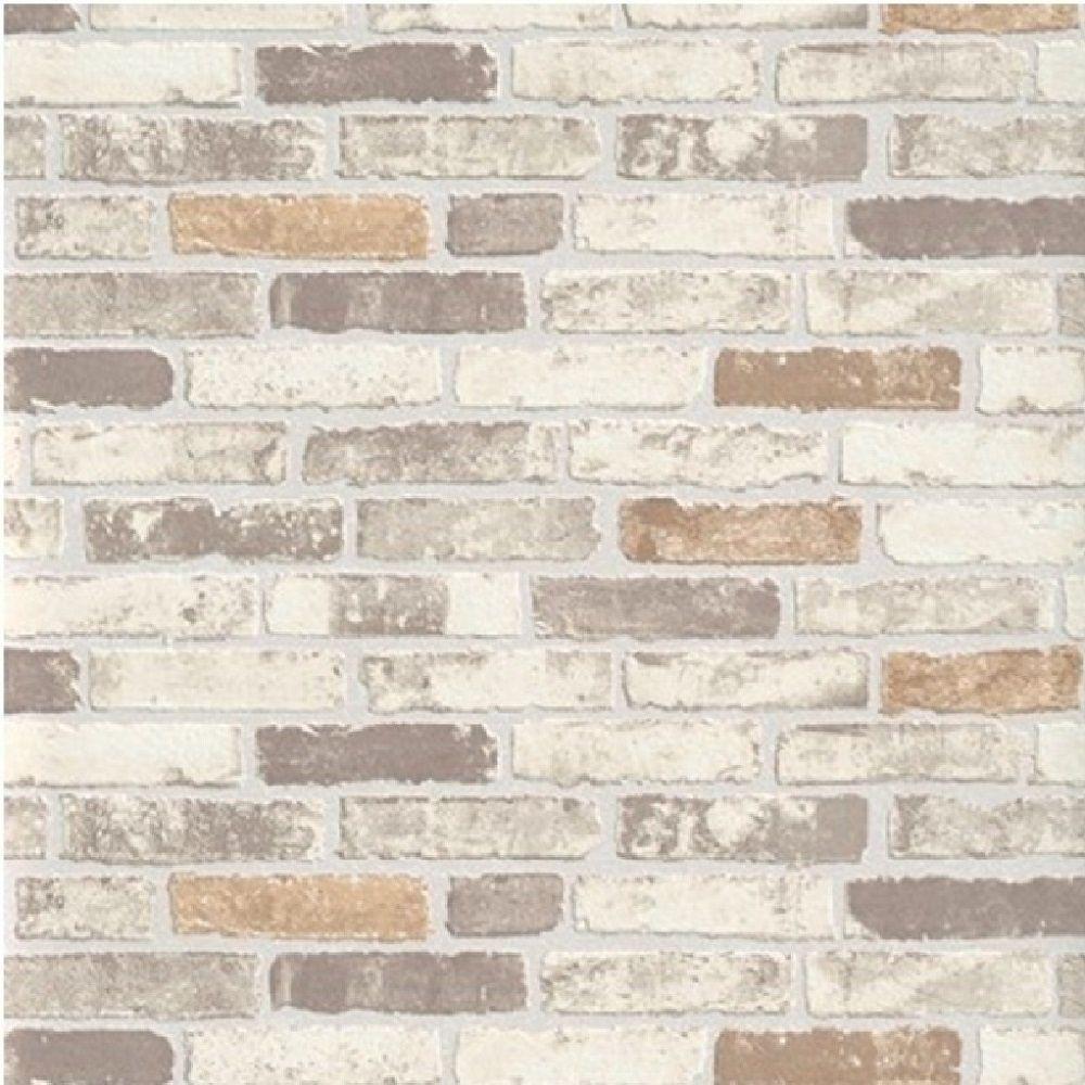 Erismann Textured Grey White Brick Wall Paste The Wall