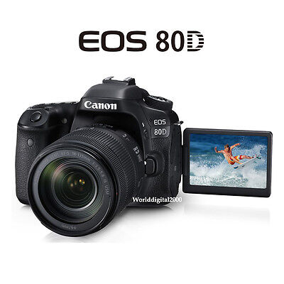 как выглядит Фотоаппарат Canon EOS-80D(Body)+EF-s 18-55mm IS STM Lenskit  25 Languages Selectable NFC фото