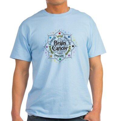 CafePress Brain Cancer Lotus Light T Shirt 100% Cotton T-Shirt (Cancer Light T-shirt)