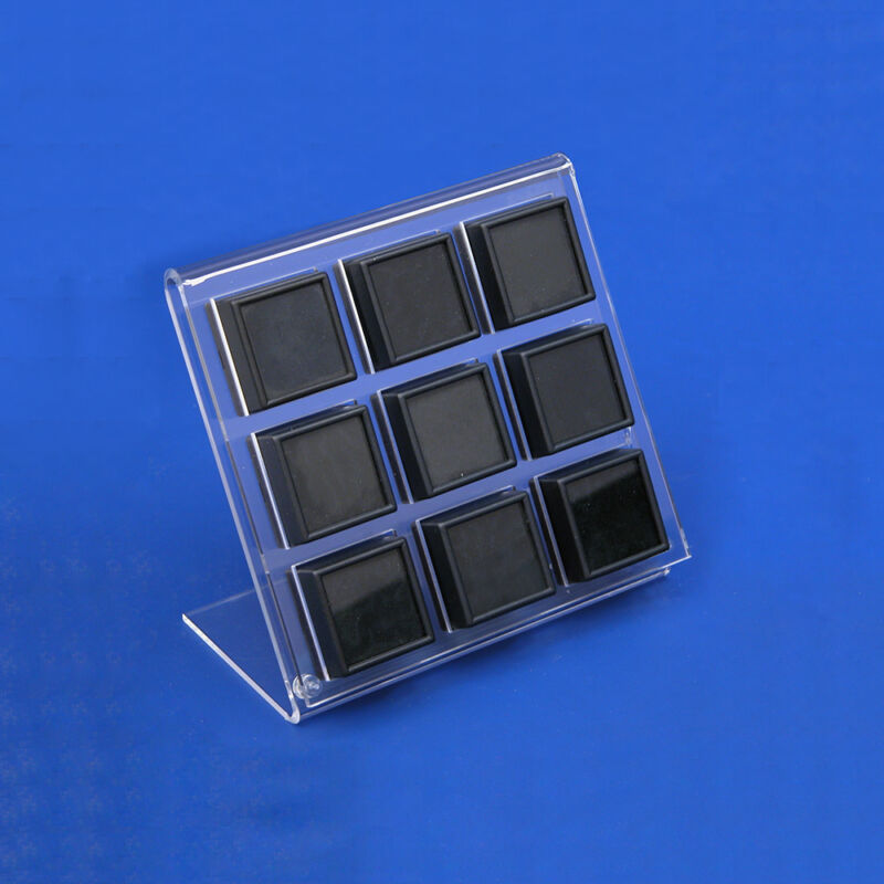Gem Holder Stand Gem Jar Holder Acrylic Gemstone Display Gemstone Easel Holds 9