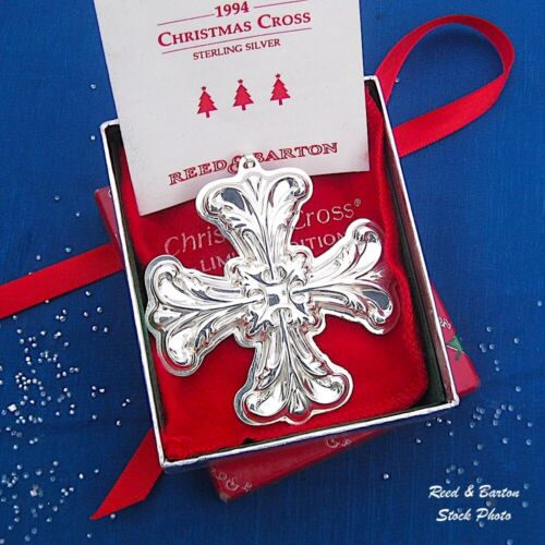 NEW • Reed & Barton 1994 CHRISTMAS CROSS Sterling Silver Ornament - Pendant