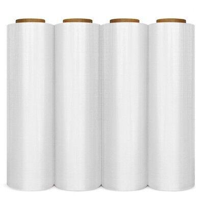 Cast Hand Stretch Wrap 18 X 1500 80 Gauge Plastic Bundling Shrink Film 4 Rolls