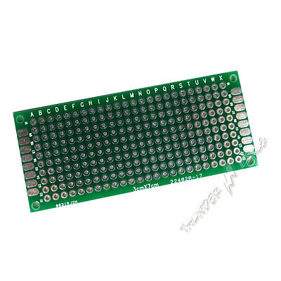 2 X Double Side Plated 3x7 Cm 30x70 Mm Prototype Blank Universal Pcb Board Fr4