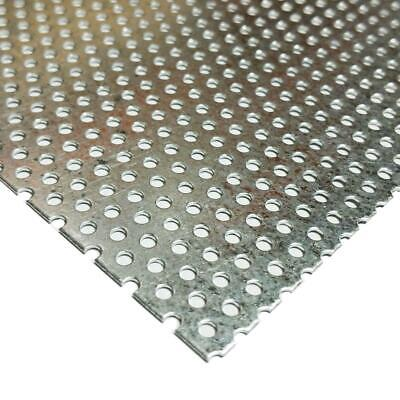 Galvanized Steel Perforated Sheet 0.034 X 12 X 24 332 Holes
