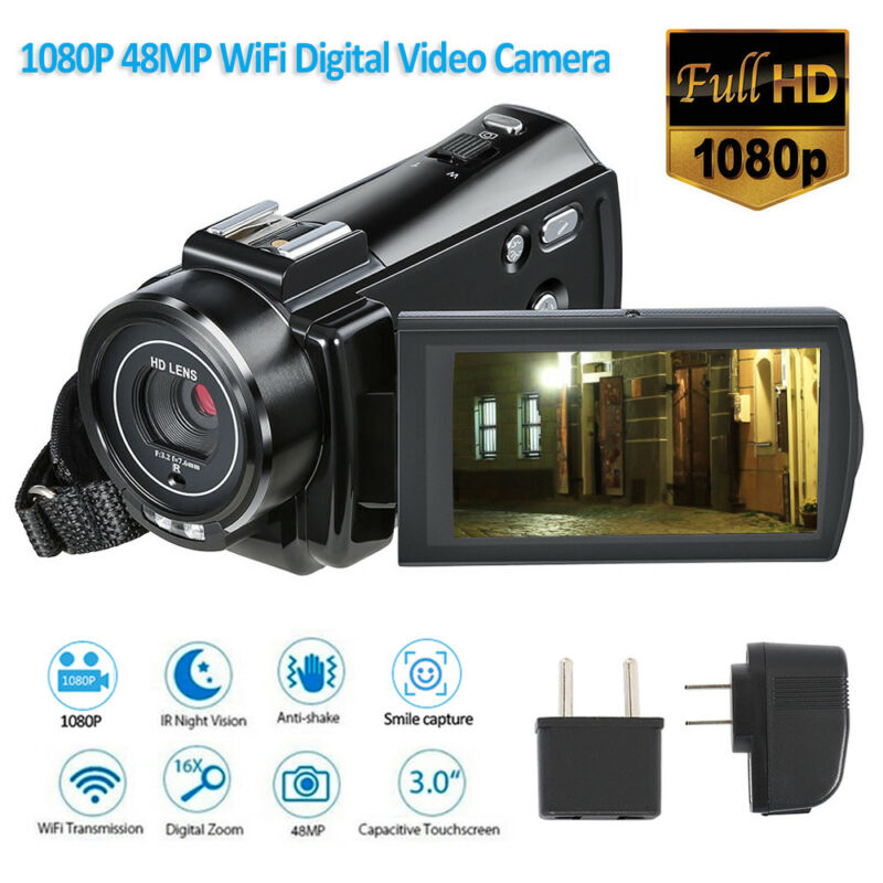 WiFi 4K HD 1080P 24MP Digital Video Camera Camcorder Recorde