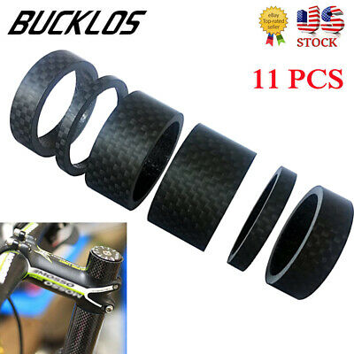 1x carbon fiber Cycle headset carbon mtb bike fork conical taper washer 10-40mm